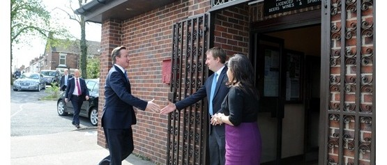 Prime Minister, David Cameron visiting Riddings Community Centre in April 2012